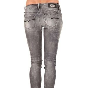 DIESEL 0805S grupee gray acid wash jeans 25 NWOT